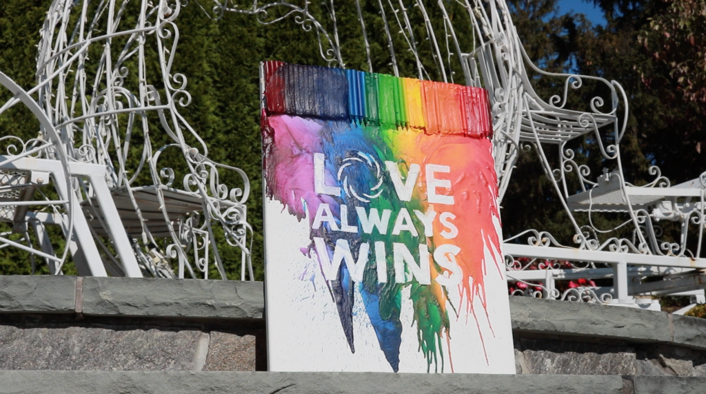 Our Bonura Weddings Love Always Wins Painting at Anthony's Pier 9 in New Windsor NY